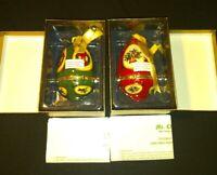 Mr Christmas Musical Egg Ornaments Lot Of 2 Valerie New Old Stock Batteries Box!