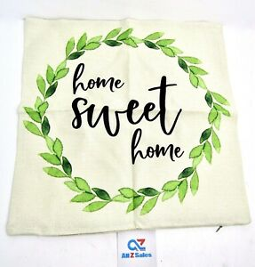Decorative Home Sweet Home Throw Pillow Cushion Cover Case 17x17 inch - NEW