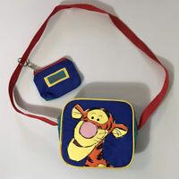 Vintage Winnie the Pooh Tigger Child Sandwich Lunch Bag Coin Purse Set Red Strap