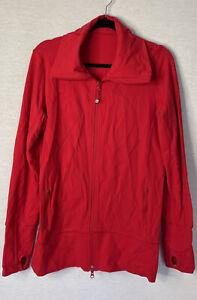 Lululemon Jacket solid red size 10