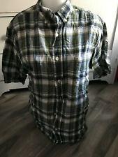 Woolrich Green Plaid Short Sleeve Shirt Men's Size M