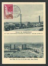 FRANCE MK 1959 ATOMKRAFTWERK NUCLEAR MAXIMUMKARTE CARTE MAXIMUM CARD MC CM d6946