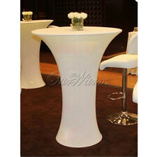 1X Lycra Stretch Cocktail Poseur Dry Bar Spandex Table Cover Cloth Wedding Event