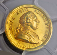 "1814, France (The 100 Days!), Louis XVIII. Gold ""Return of the King"" Medal. PCGS"
