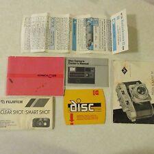 Vintage Camera owners manual Afga Karat IV Konica C35 Fugi Kodachrome Kodak