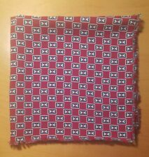 Vtg 1930s Art Deco Rayon Print Scarf/Pocket Square 19""