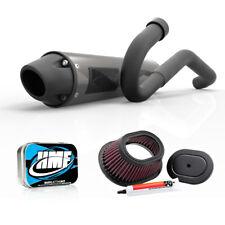 HMF Yamaha Raptor 125 2011 - 2013 Full Blackout Exhaust Muffler + Jet Kit + K&N