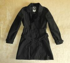 Womens G-Star Raw Kolby Belted Trench Coat / Jacket In Black - Size Small