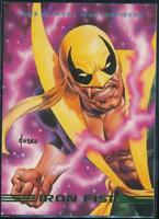 1993 Marvel Masterpieces Trading Card #23 Iron Fist