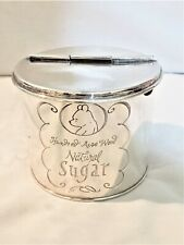 Disney Winnie the Pooh Silver Plate Sugar Canister