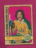 1972-73 OPC # 263 SEALS PETE LAFRAMBOISE ROOKIE HIGH # NRMT CARD (INV#6220)