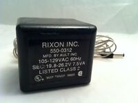Rixon Modem Power Supply Model # 550-0312 plug in class 2 transformer 19.8-26.2V