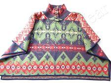 New Lauren by Ralph Lauren 100% Wool Southwestern Poncho Sweater sz L / XL