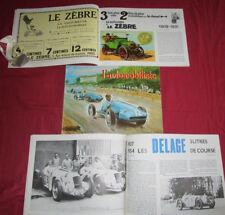 L'automobiliste N°59 : automobile Le Zebre  DB Panhard  Delage 3 litres