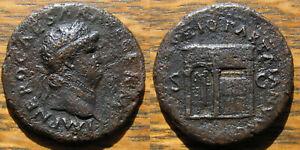 Nero As with Temple of Janus Doors Closed -  PACE P R VBIQ PARTA IANVM CLVSIT