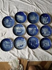 Bing And Grondahl Copenhagen Porcelain Blue Plate