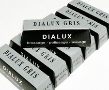 DIALUX GRAY POLISHING COMPOUND GRIS STAINLESS STEEL WHITE METALS POLISH 12 BARS