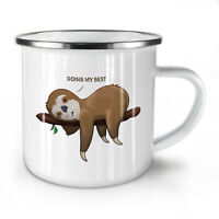 Funny Animal Sloth NEW Enamel Tea Mug 10 oz | Wellcoda