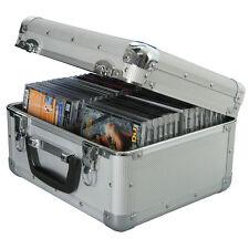 Caja de almacenamiento de información Cd De Metal De Aluminio Vuelo Funda De Transporte-posee 40-Candado 2 llaves