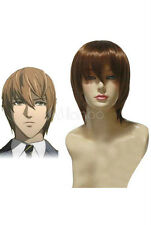 Death Note Light Yagami Kira Brown  Fashion Cosplay Wig Brown Short Straight