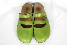El Natura Lista WAKATAUA Green Leather Strappy Mary Jane Sandals 38 / US 7.5 8