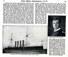 """Unser kühnes Unterseeboot """"U 9"""" 1914 * WW 1"""