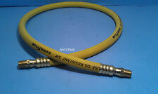 """Goodyear USA 12 Foot 3/8"""" 250 PSI Rubber Air Hose Pigtail Whip Dual Swivel Ends"""