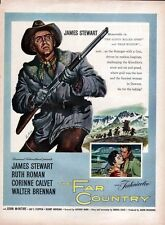 1955 Movie PRINT AD The Far Country Stars James Stewart Ruth Roman in Klondike