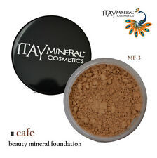 """ITAY Beauty 100% Natural Mineral Foundation MF-3 """"CAFE""""+Free Black Eye Liner"""
