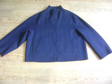 Max Mara coat , jacket.RRP £350.16 will also fit 18.Navy blue.New+tags.Wool.Boxy