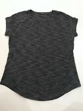 Lululemon Lost in Pace SS Tee *Size 4* Top Black Gray Short Sleeve Shirt run
