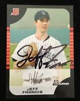 JEFF FRANCIS 2005 BOWMAN TOPPS ROOKIE RC Autograph Signed AUTO Baseball Card 56