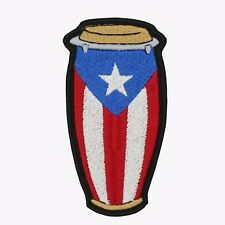 PUERTO RICAN CONGA EMBROIDERED PATCH