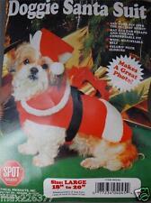 "Spot Brand DOGGIE SANTA SUIT CHRISTMAS Dog Pet Costume Outfit Large 18"" - 20"""