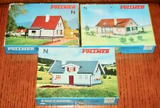 Vintage Vollmer N Scale Houses - 3 DIFFERENT - New Unbuilt in Original Boxes