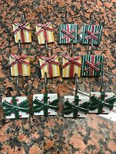 Christmas Shower Curtain Hooks Set of 12 Assorted Gift Boxes 3 Different Designs