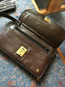 Herrenhandtasche Leder 14x 22 cm