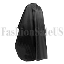 Black Hair Cutting Cape Pro Salon Hairdressing Gown Barber Cloth Wrap Tool USA