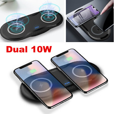 Dual Wireless Charger Charging Pad Dock for iPhone Samsung Android Cell Phone