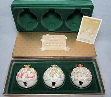 Hallmark Keepsake Ornament Club 30th Anniversary Porcelain Bells 3 Piece Set NEW