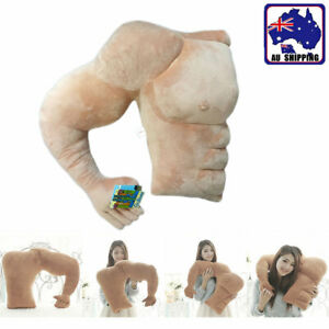 BOYFRIEND MUSCLE ARM PILLOW GIRLFRIEND REST SLEEPING BODY HUGGING THROW CUSHION