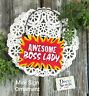 Mini Gift Sign Ornament Awesome Boss Lady  Appreciation Sign DecoWords USA New