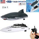 2 in 1 RC Boats Remote Control 2.4GHz Electric Racing Speedboat for Adult Kids