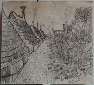Pencil drawing signed VINCENT