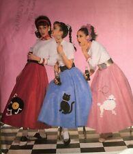 VINTAGE &NEW 2001 'BUTTERICK' POODLE SKIRT 1950S LOOK 4114 MISSES 6-12