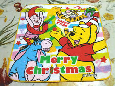 Disney Winnie the Pooh Merry Christmas Wash Cloth, Face Washer, 20x20cm, Cotton