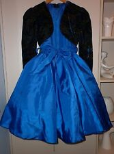 VINTAGE 1980s CLASSIC FROU FROU PARTY DRESS  SIZE 12 EXCELLENT CONDITION