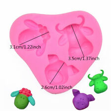 Lovely Sheep Pig Cow Head Silicone Animals Baking Mold Cup Cake Decorating Mould