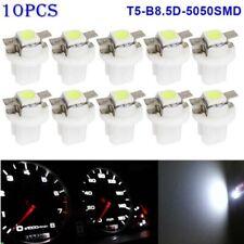 10X T5 B8.5D 5050 White LED Dashboard Dash Gauge Instrument Interior Light Bulbs