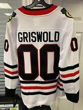 Мужские Чикаго Блэкхокс Кларк Грисволд рождественские каникулы белый хоккейный свитер